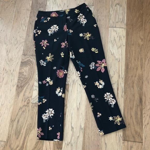 68120147857c66 Carolina Belle Pants - Carolina Belle Navy Floral Trouser Pants